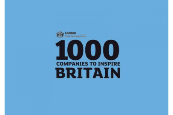 Recognised by The London Stock Exchange as one of the top 1000 companies to inspire Britain
